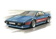 Lotus Turbo Esprit ilustração do vetor