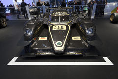 Lotus V8 LMP2 Prototype Race Car. Displayed at the 2012 edition of the Geneva motor show in Switzerland. The car will be used to compete in the 2012 World Stock Image