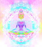 Lotus van de YOGA stelt Stock Afbeelding