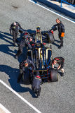 Lotus van het team Renault F1, Romain Grosjean, 2012 Stock Foto's