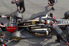 Lotus van Raikkonen van Kimi E20 Stock Afbeeldingen