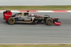 Lotus van Raikkonen van Kimi E20 - Test Barcelona 2012 Stock Afbeeldingen