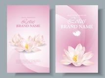 Lotus vertical banners 2 Stock Image