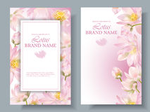 Lotus vertical banners 2 Royalty Free Stock Photos