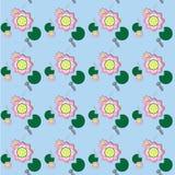 Lotus w basenie bezszwowym Fotografia Stock