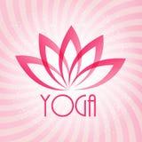 Σημάδι λουλουδιών Lotus για Wellness, τη SPA και τη γιόγκα Στοκ Εικόνα