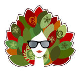 Lotus woman Stock Images