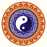 Lotus Yin Yang Design Royalty Free Stock Photo