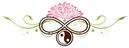 Lotus, yin yang Royalty Free Stock Photo