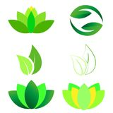 Lotus Ying Yang Leaves Logo illustration libre de droits