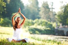 Lotus yoga Royalty Free Stock Images
