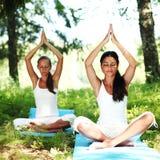 Lotus yoga Royalty Free Stock Image