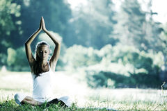 Lotus yoga Stock Images