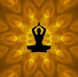 Lotus Yoga stock de ilustración