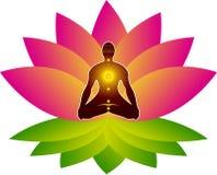 Lotus Yoga Arkivfoto