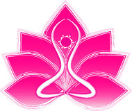 Lotus yoga Stock Photography