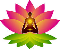Lotus yoga Stock Photo