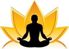 Lotus yoga logo Royalty Free Stock Images