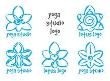 Lotus yoga logo Stock Images