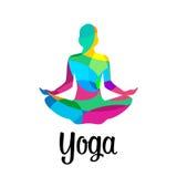 Lotus yoga pose icon. Vector abstract Stock Photography