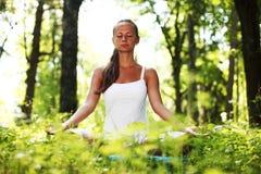 Lotus yoga sunrise Royalty Free Stock Photos