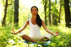Lotus yoga sunrise Stock Photos