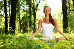 Lotus yoga sunrise Royalty Free Stock Image