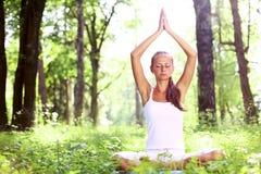 Lotus yoga sunrise Stock Images