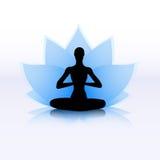 Lotus yoga symbol Royalty Free Stock Photos