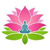 Lotus Yoga Training School royalty illustrazione gratis