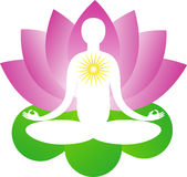 Lotus yoga Royalty Free Stock Image