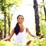 Lotus-yogazonsopgang Stock Foto