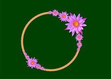Lotus z zielonego papieru tłem Zdjęcia Royalty Free