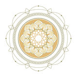lotusbloem Decoratief ornament Royalty-vrije Stock Foto's