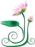 Lotusblommadiagram Stock Illustrationer