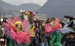 Lotusblommaflickorna i karneval arkivfoton