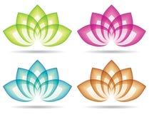 Lotusblommalogo Arkivfoto
