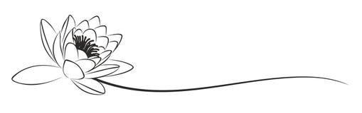 Lotusblommalogoen vektor illustrationer