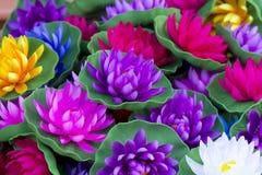 Lotusblommalykta royaltyfri bild