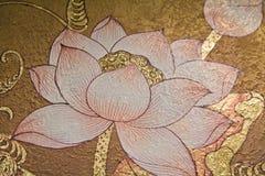 lotusblommamålning Arkivbilder