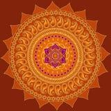 lotusblommamandala royaltyfri illustrationer