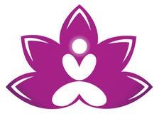 lotusblommameditation Arkivfoton