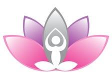 lotusblommameditation Royaltyfria Bilder