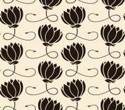 lotusblommar mönsan seamless Royaltyfri Bild