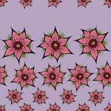 lotusblommar mönsan seamless stock illustrationer