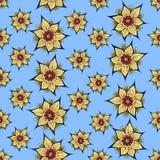 lotusblommar mönsan seamless vektor illustrationer