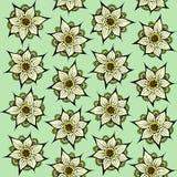lotusblommar mönsan seamless royaltyfri illustrationer