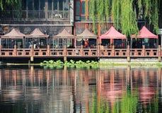 Lotusblommar marknadsför i Houhai, Beijing Royaltyfri Fotografi