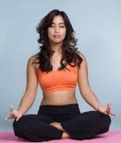 lotusblommar poserar yoga Arkivfoto