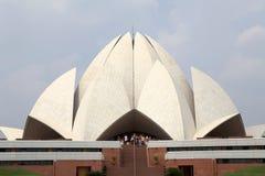 Lotusblommatempel i Delhi, Indien Fotografering för Bildbyråer